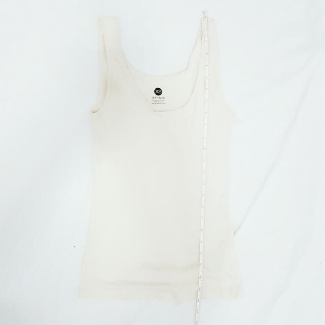Cotton On Cream Sleeveless Top
