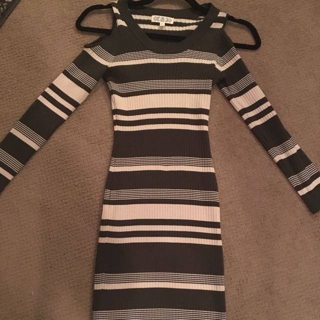 Cut Out Long Fitted Dress