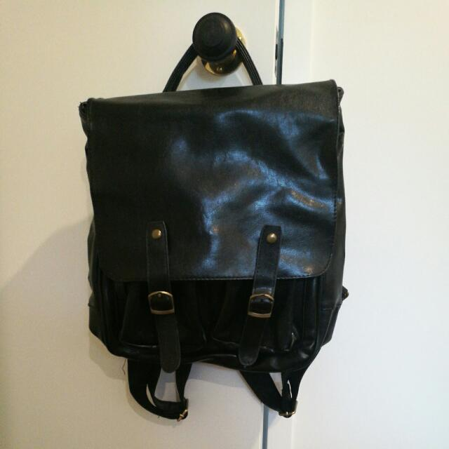 CUTE LEATHER BACK PACK