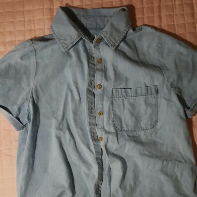 Denim Cropped Shirt