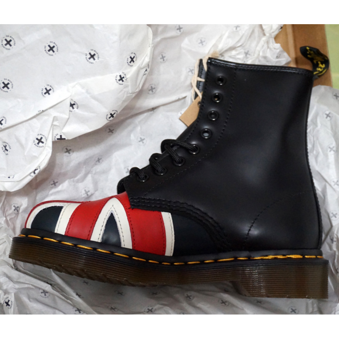 Dr. Martens 全新馬汀大夫1460 Union Jack英國旗八孔百搭靴 馬丁