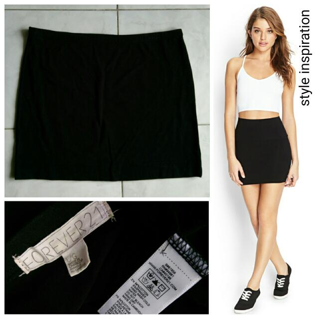 Forever 21 Black Bandage Mini Skirt