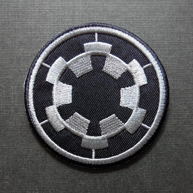 Galactic Empire Star Wars Emblem Iron On Patch Design Craft
