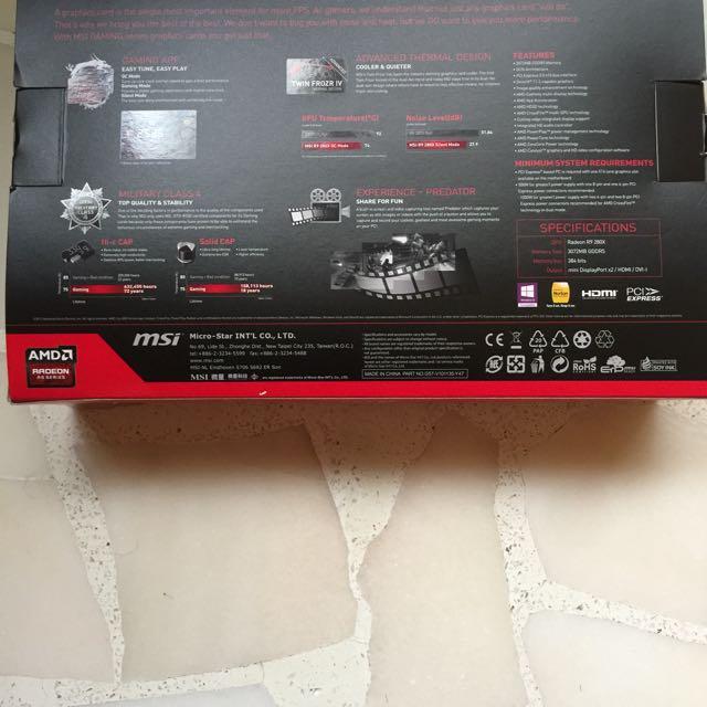 GPU MSI AMD Radeon R9 280x 3GB