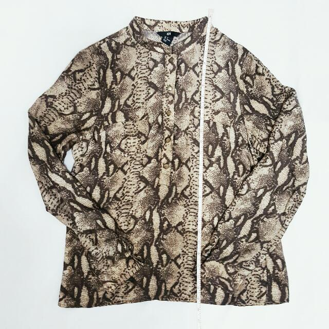 H&M Snakeprint Blouse