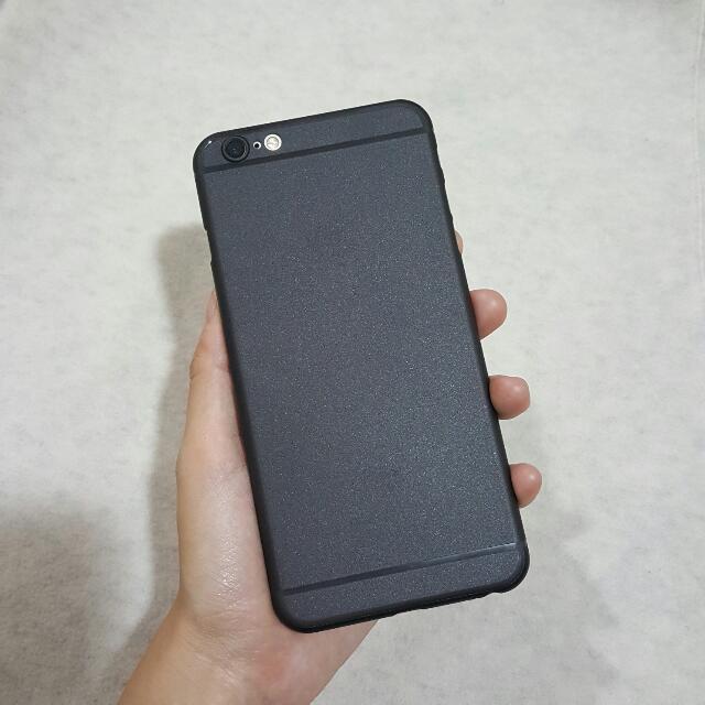(全新)iPhone7plus/6plus/6s plus 黑色素面磨砂 微透明 輕薄手機殼 保護殼 Apple 蘋果