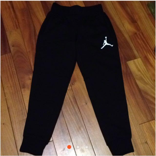 Jordan縮口棉褲 黑