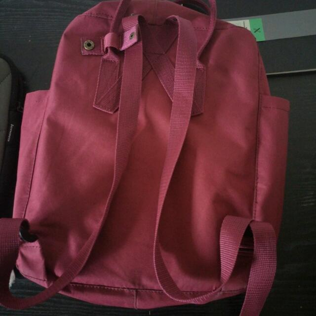 Kanken Deep Red Backpack Bag