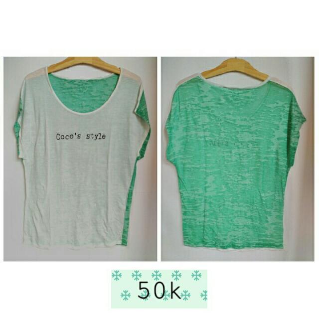 Kaos white-green