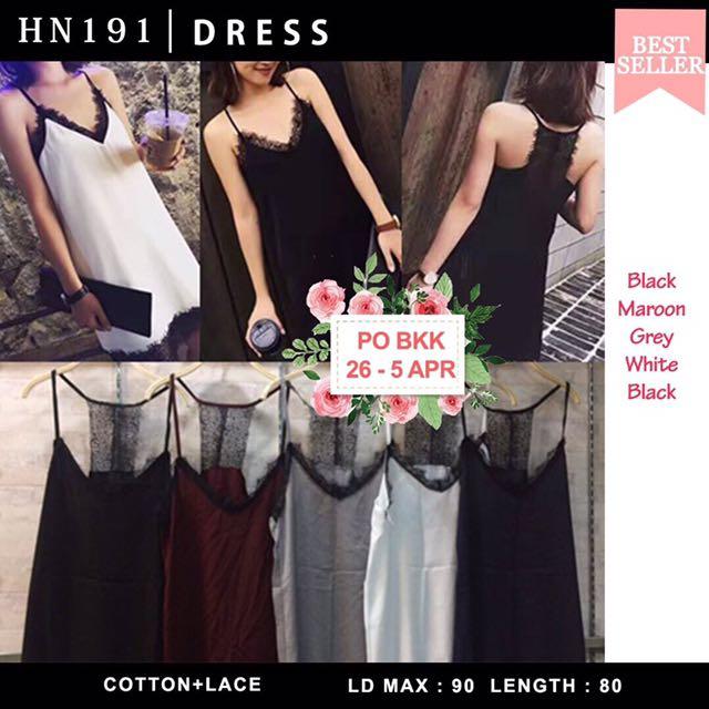 lace dress black & white