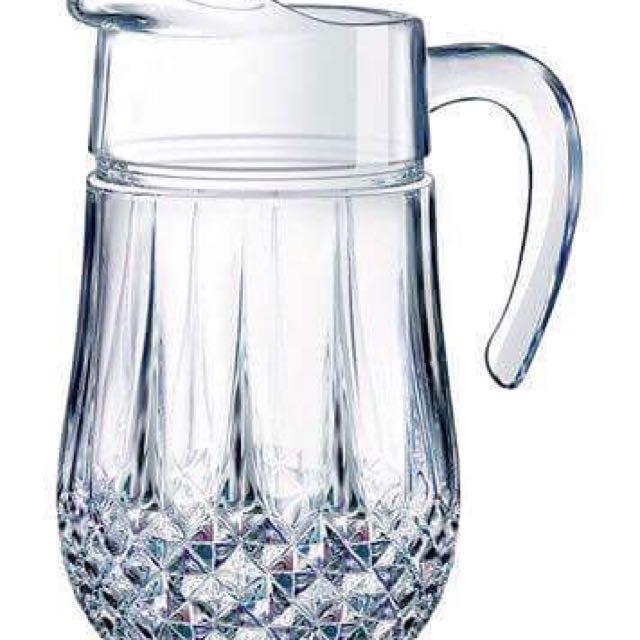 Longchamp Glass Pitcher