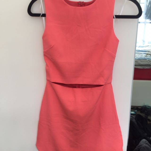 Luvalot Size 6 Coral Pink Dress- Brand New With Tags