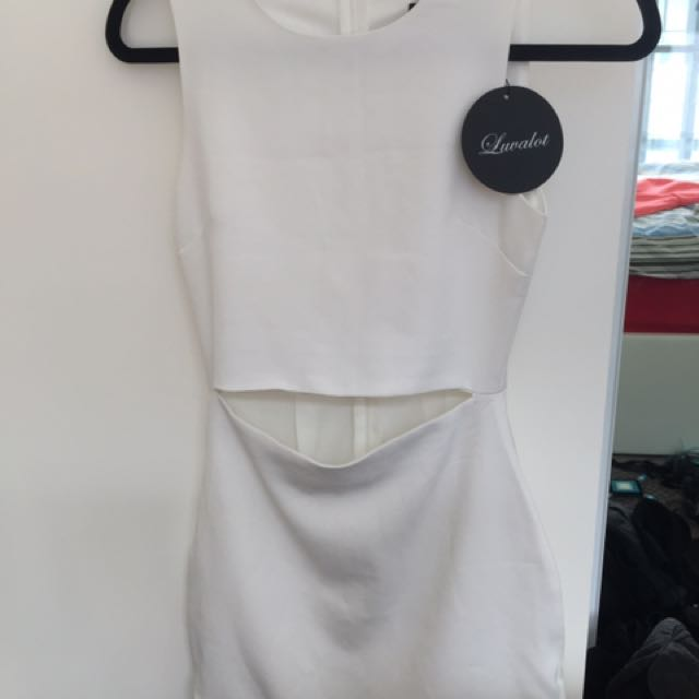 Luvalot Size 6 White Dress- Brand New With Tags