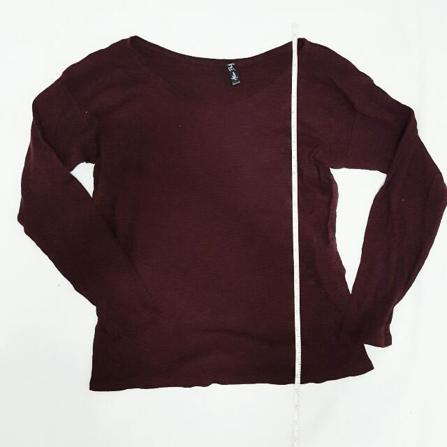 Maroon Longsleeves Top