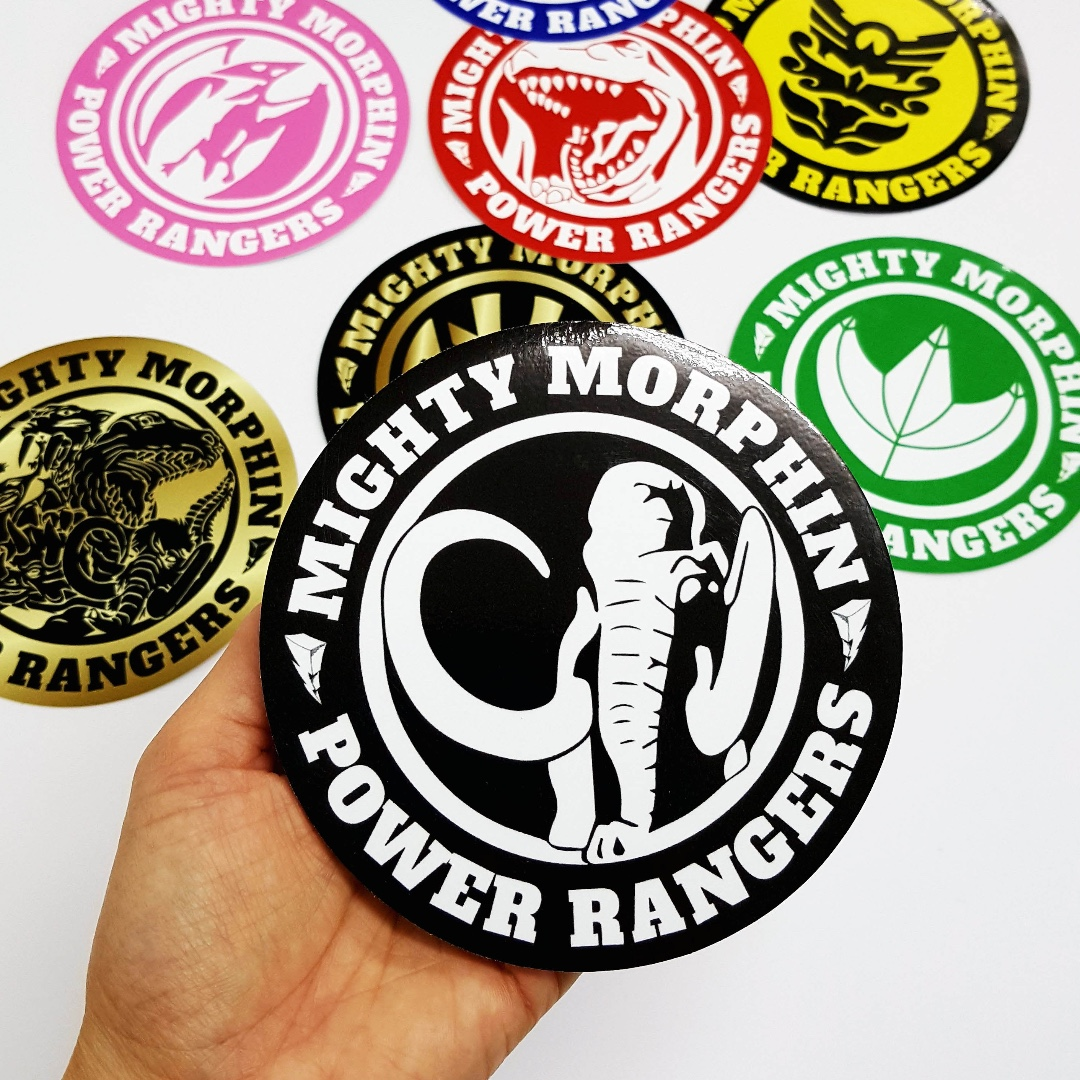 Mastodon mighty morphin power rangers sticker 12cm diameter photo photo photo photo buycottarizona