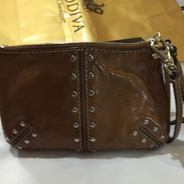 MK - Michael Kors vintage  Gold Studded leather Bag