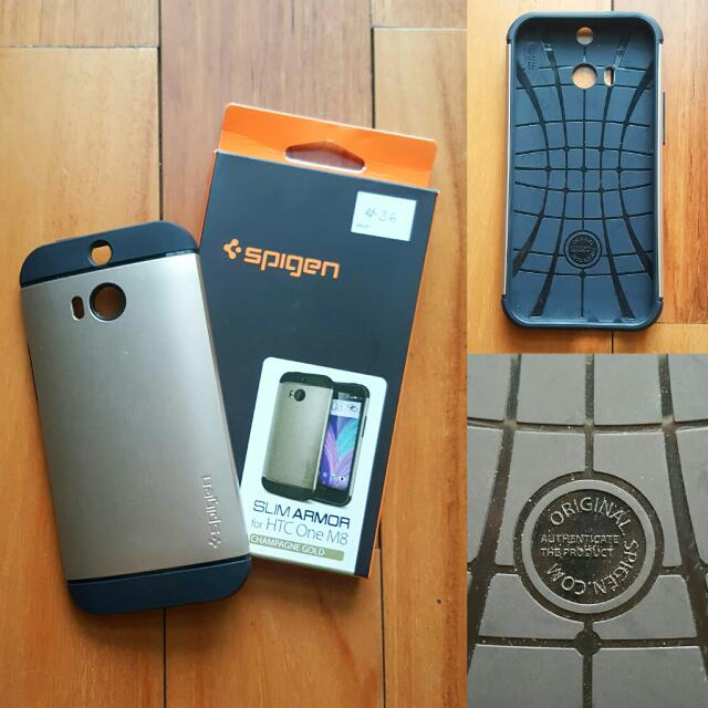 (NEW) Spigen Casing HTC one M8 // Mobile Phone Case