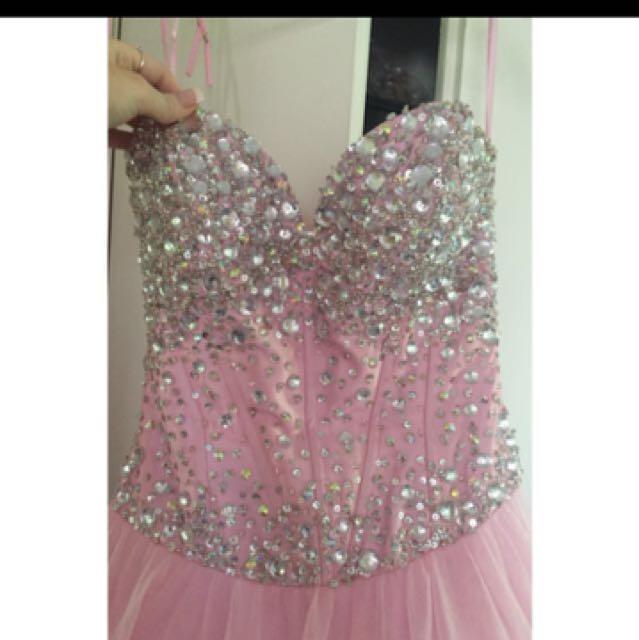 Pink Formal Dress.