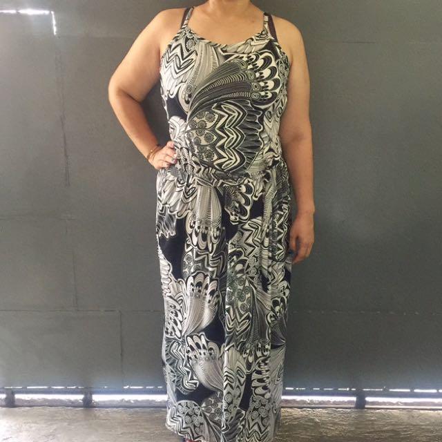 Plus Size Maxi Printed Dress