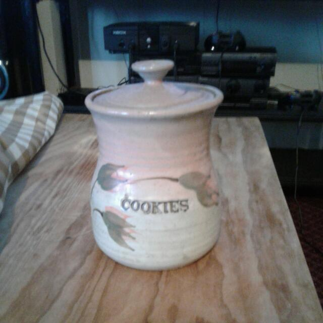 Pottery Cookie Jar
