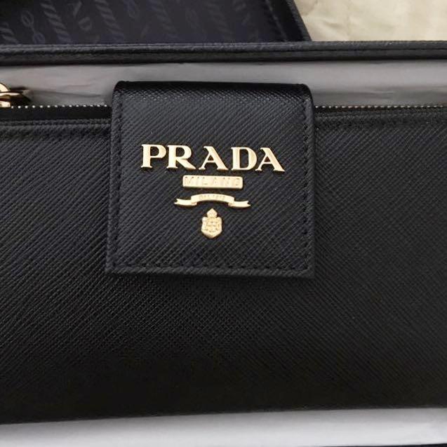Prada Short Wallet Nero Female