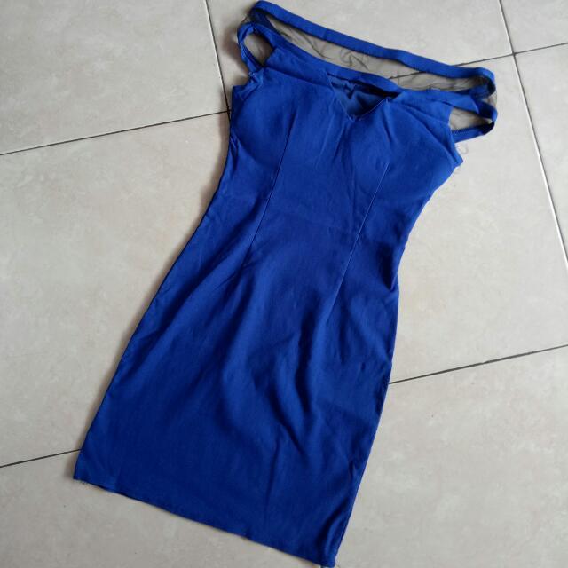 Preloved Blue Mini Dress