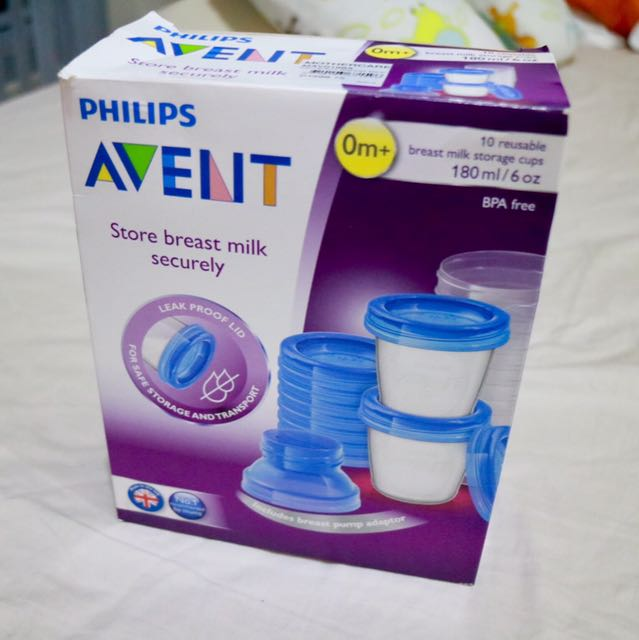 Pre-loved Philips Avent 10-pc. Breastmilk Storage Cups
