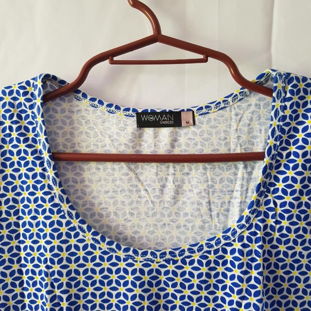 Printed Blue Casual Dress
