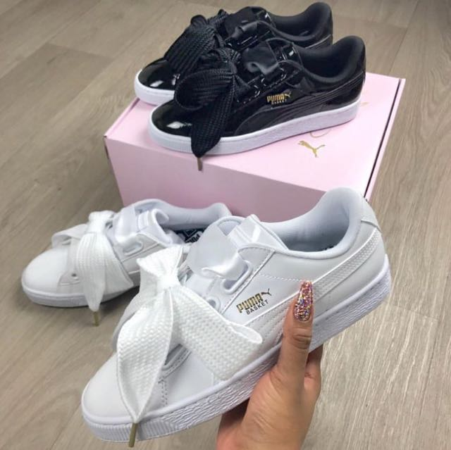 puma ribbon shoes