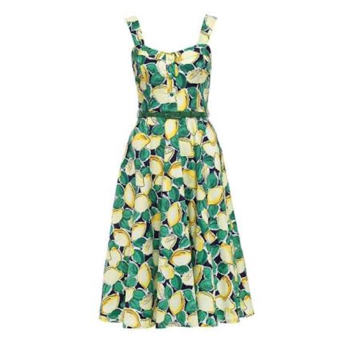Review size 10 Lemon Fizz dress