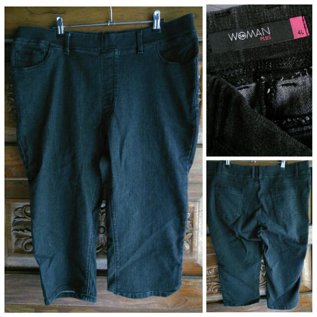 SM Woman Plus 4xl Soft Capri Pants Like H&M Uniqlo