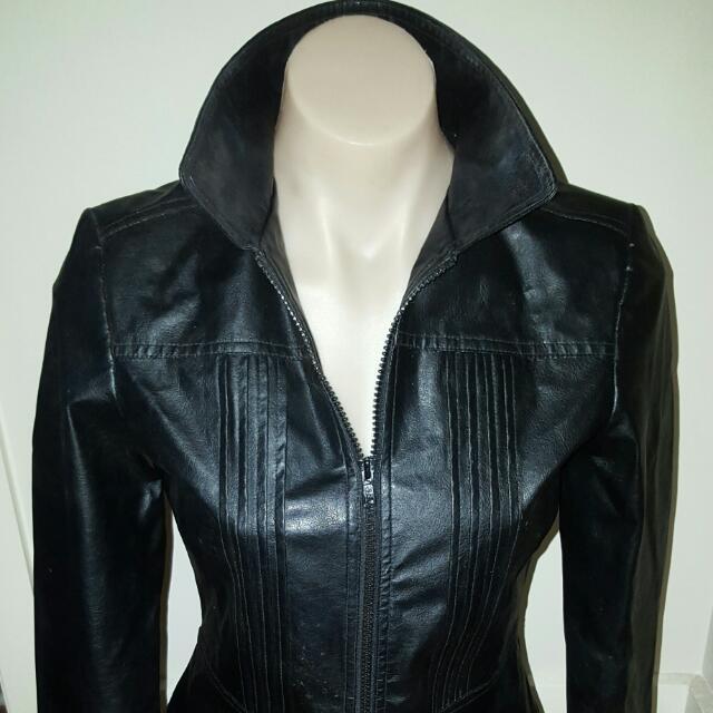 Sportsgirl Faux Black Leather Jacket