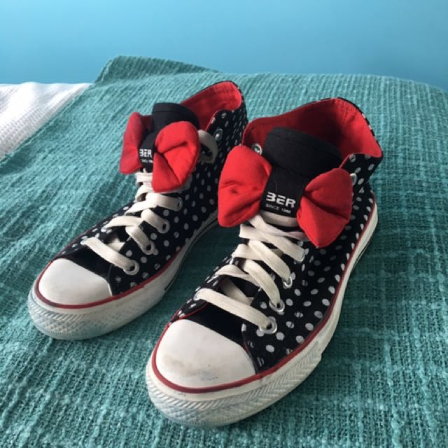 Spotty Canvas High Top Shoes