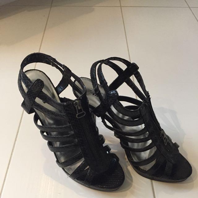 Spring Snake Skin Heels