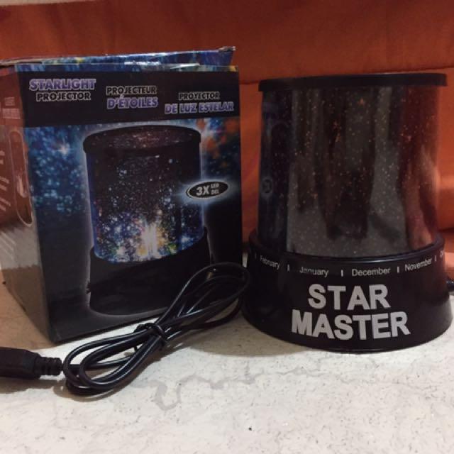 Star Master Night Light Projector