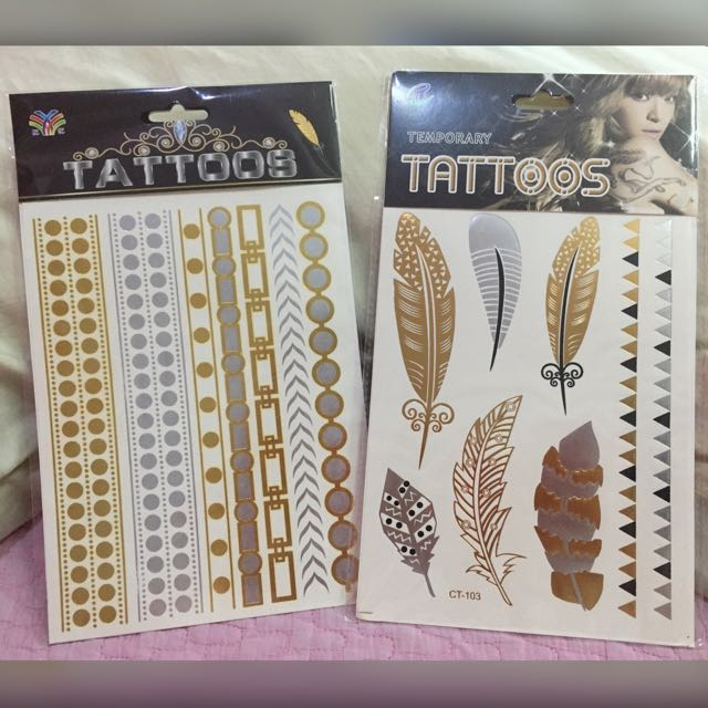Temporary Tattoo (Metallic)