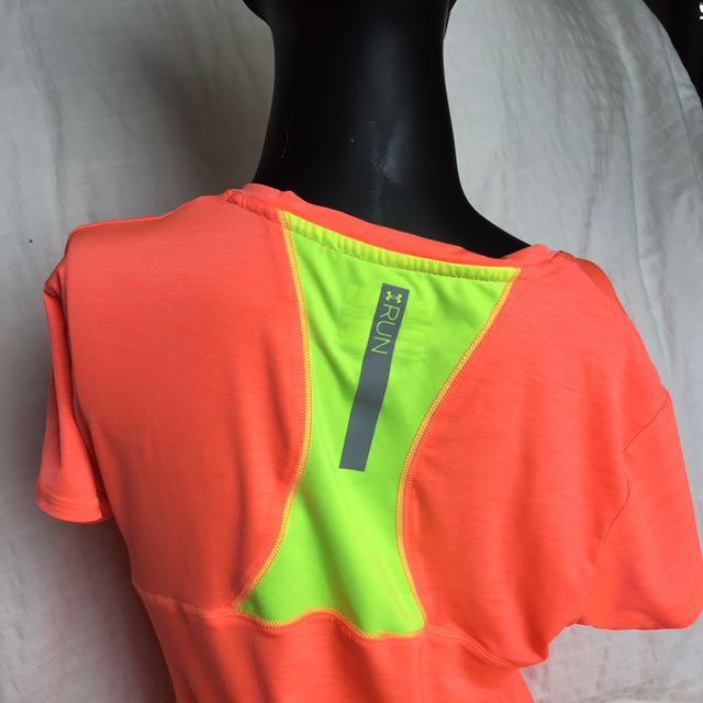 Under Armour Neon Orange And Yellow Shirt