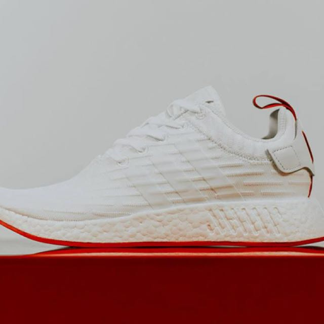 dc5338163 US8  adidas NMD PK White   Core Red