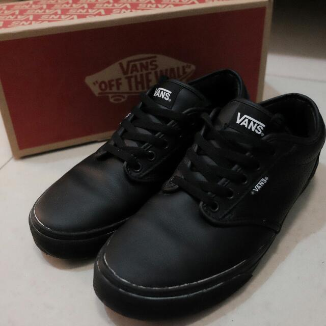 a6a51d213c Rare! VANS Atwood Perf Leather All Black