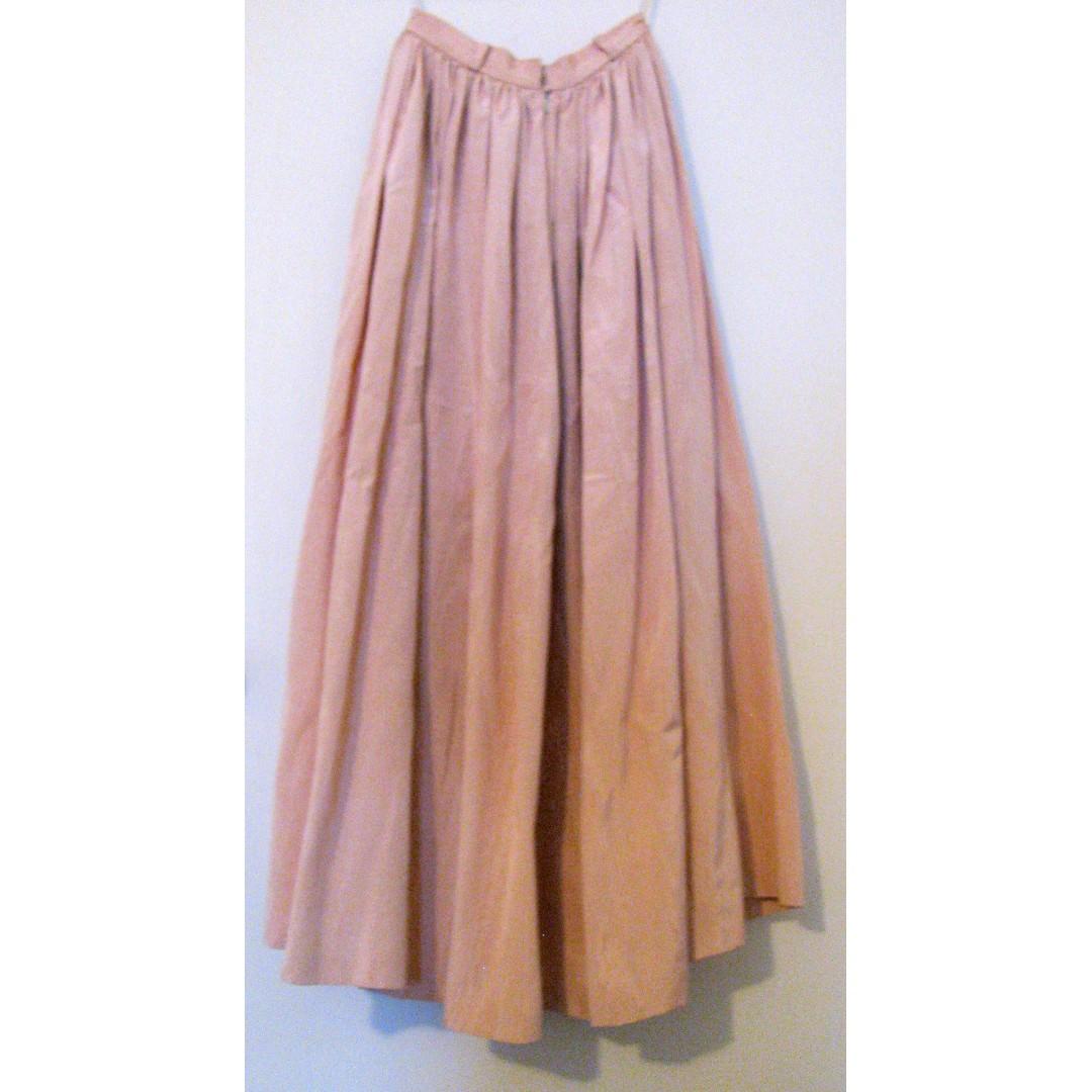 Vintage Pink Long Skirt Size 4