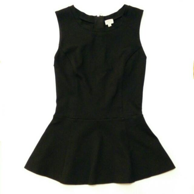 💛 Wilfred Aritzia Black Peplum Top