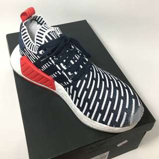 The new Men NMD R2 PK collegate navy and footwear white.