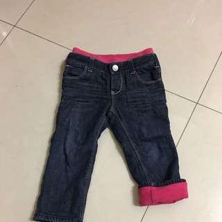 Gap 軟布 刷毛 牛仔褲