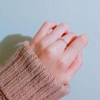 細戒單鑽戒指 Hannah Jewelry購入
