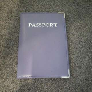 Lilac Passport Cover - Genuine Leather