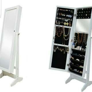 White Wooden Jewelry Cabinet