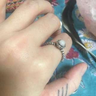 Pink Opal Pandora Birthstone Ring