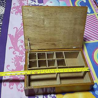 Vintage Looking Wooden Storage Box Unique Wooden Compartment