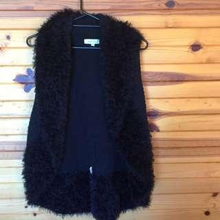 Black Woolen Vest
