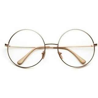 Gold Circle Glasses